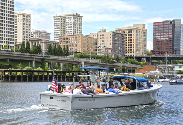 Seattle City Skyline with Destiny Harbor Tours