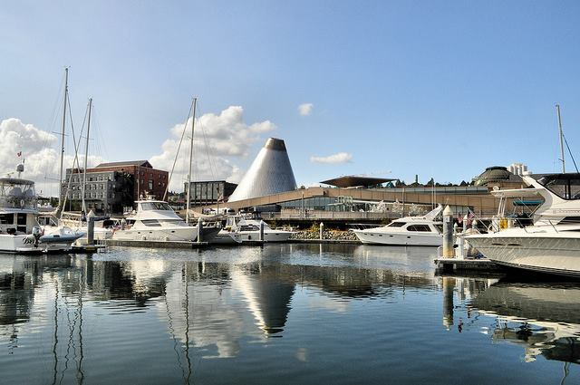 View of the Tacoma Glass Museum from the Destiny Harbor Tour Boat