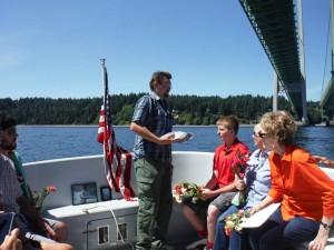 Rememberances are made - Memorials at Sea